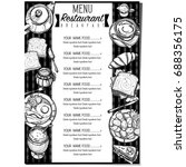 menu breakfast food restaurant... | Shutterstock .eps vector #688356175