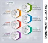 vector abstract 3d paper... | Shutterstock .eps vector #688356502