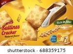 saltines cracker ads  tasty...   Shutterstock .eps vector #688359175
