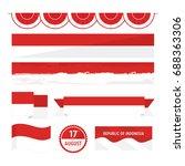 set of indonesian flag... | Shutterstock .eps vector #688363306