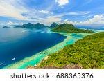 scenic panoramic top view of... | Shutterstock . vector #688365376