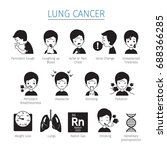 lung cancer icons set... | Shutterstock .eps vector #688366285