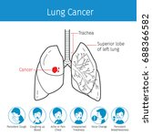 illustration of human lungs ... | Shutterstock .eps vector #688366582