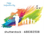 india independence day | Shutterstock .eps vector #688383508