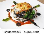 eggplant filling with cheese | Shutterstock . vector #688384285