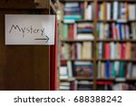 mystery book shelves this way | Shutterstock . vector #688388242