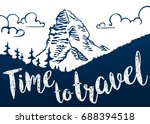 time to travel. mountain... | Shutterstock .eps vector #688394518