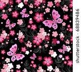 Dark Seamless Floral Pattern...