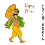 happy oman. king mahabali.... | Shutterstock .eps vector #688402246