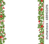 christmas holly branch with... | Shutterstock .eps vector #688402696