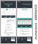 page website template. modern...