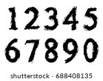 set of grunge numbers.vector... | Shutterstock .eps vector #688408135