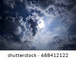dramatic sky with gray stormy... | Shutterstock . vector #688412122