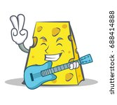 cheese character cartoon style... | Shutterstock .eps vector #688414888
