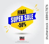 sale banner design template... | Shutterstock .eps vector #688417876