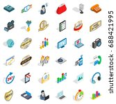 all service icons set.... | Shutterstock .eps vector #688421995