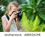 cute little girl doing... | Shutterstock . vector #688426198