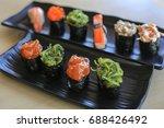 sushi rice mold wasabi japanese ... | Shutterstock . vector #688426492