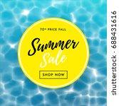summer sale poster for discount ...   Shutterstock .eps vector #688431616