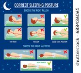 best and worst sleep... | Shutterstock .eps vector #688436065
