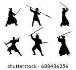the set of warriors silhouette... | Shutterstock .eps vector #688436356