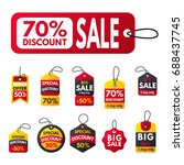 super sale extra bonus red... | Shutterstock .eps vector #688437745