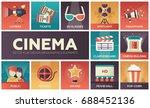 cinema   set of modern vector... | Shutterstock .eps vector #688452136