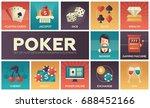 poker   modern vector flat... | Shutterstock .eps vector #688452166