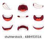 different emotions of cartoon... | Shutterstock .eps vector #688453516