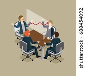 business people meeting for... | Shutterstock .eps vector #688454092