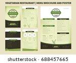 restaurant menu brochure... | Shutterstock .eps vector #688457665