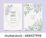 wedding invitation card template   Shutterstock .eps vector #688457998