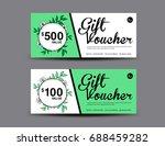 gift voucher template layout ...   Shutterstock .eps vector #688459282