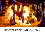 christmas socks | Shutterstock . vector #688461472