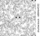 seamless pattern  background... | Shutterstock .eps vector #688464532