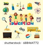 children and education banner.... | Shutterstock .eps vector #688464772