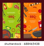 barbecue and grill banner... | Shutterstock .eps vector #688465438