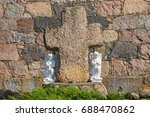 angels near the stone cross on... | Shutterstock . vector #688470862