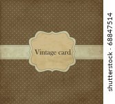 polka dot design  brown vintage
