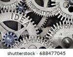 macro photo of tooth wheel... | Shutterstock . vector #688477045