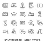 education line icons. set of... | Shutterstock .eps vector #688479496