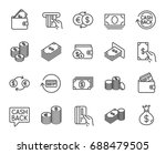 money line icons. set of...