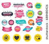 sale shopping banners. heart...   Shutterstock .eps vector #688480426