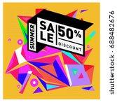 summer sale memphis style web...   Shutterstock .eps vector #688482676