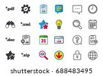 document icons. file extensions ... | Shutterstock .eps vector #688483495