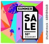 summer sale memphis style web...   Shutterstock .eps vector #688484668