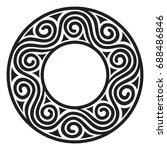 ancient european pattern ... | Shutterstock .eps vector #688486846