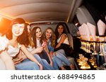 gorgeous girls having fun while ... | Shutterstock . vector #688494865