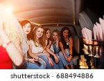 gorgeous girls having fun while ... | Shutterstock . vector #688494886