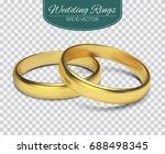 gold vector wedding rings... | Shutterstock .eps vector #688498345